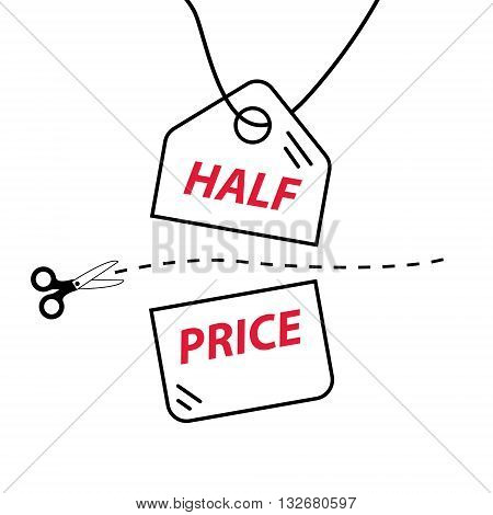 Cut price sale trade vector illustration label