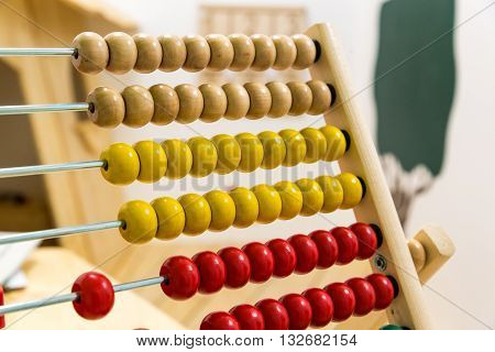 A Children's abacus in the game room