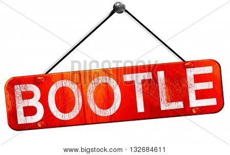 Bootle, 3D rendering, a red hanging sign