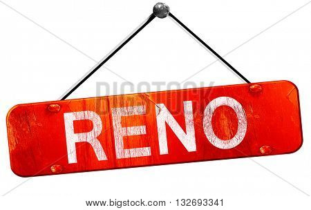 reno, 3D rendering, a red hanging sign