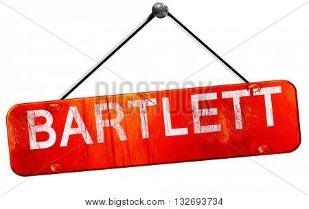 bartlett, 3D rendering, a red hanging sign