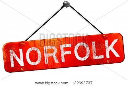 norfolk, 3D rendering, a red hanging sign