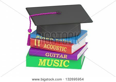 Music Education concept 3D rendering isolated on white background