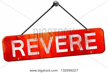 revere, 3D rendering, a red hanging sign