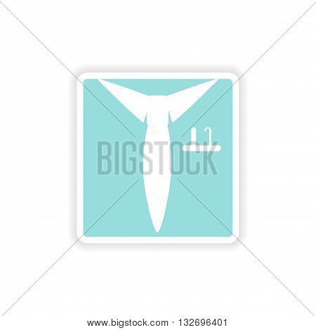paper sticker on white background  shirt tie