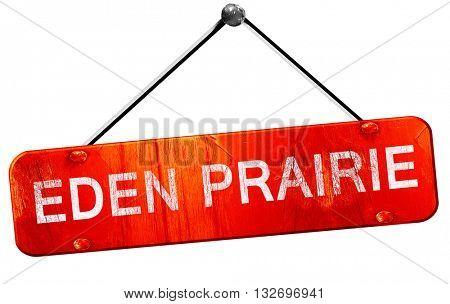 eden prairie, 3D rendering, a red hanging sign