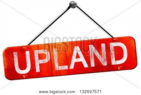 upland, 3D rendering, a red hanging sign