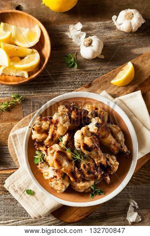 Grilled Lemon Garlic Chicken Wings