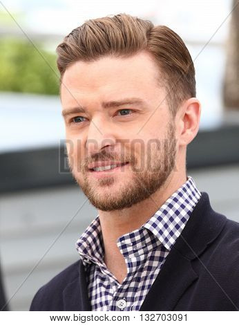 CANNES, FRANCE - MAY 22, 2013: Justin Timberlake seen at the Cannes film festival picture taken from a public area