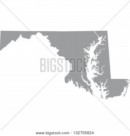 map of the U.S. state of Maryland