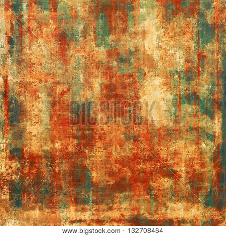 Scratched grunge background or spotted vintage texture. With different color patterns: yellow (beige); brown; green; red (orange)