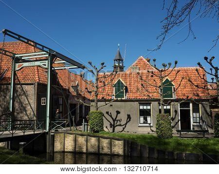 the nice City of enkhuizen in the netherlands