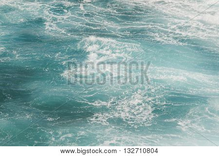 Ocean scene focus on the movement and colors of the water
