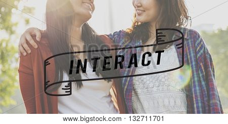 Interact Interactive Connection Communication Collaboration Concept