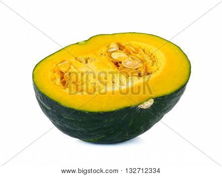 Green Pumpkin Isolated On The White Background