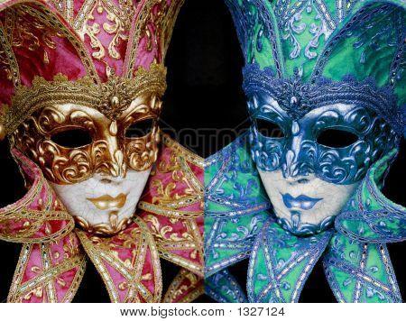 Mardigras mask mirror colors
