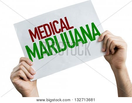 Medical Marijuana placard isolated on white background