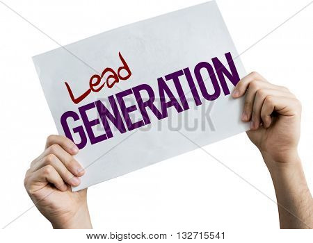 Lead Generation placard isolated on white background