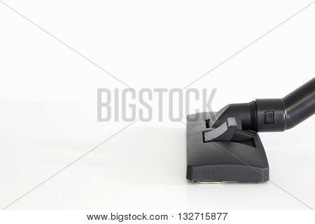 Black brush head , Vacuum cleaner on white background.