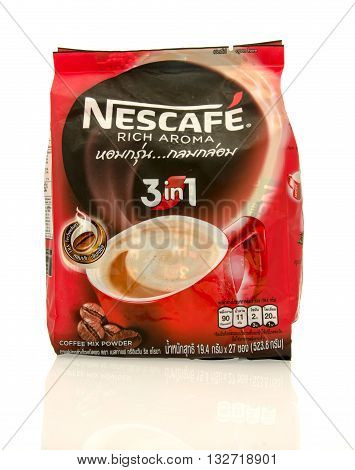 Winneconne WI - 7 March 2016: Bag of Nescafe coffee on an isolated background