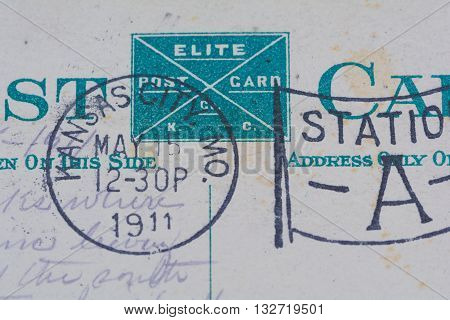 1911 Kansas City Missouri postmark on postcard