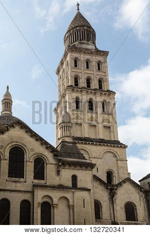 Tower on the church in Perigueux, France