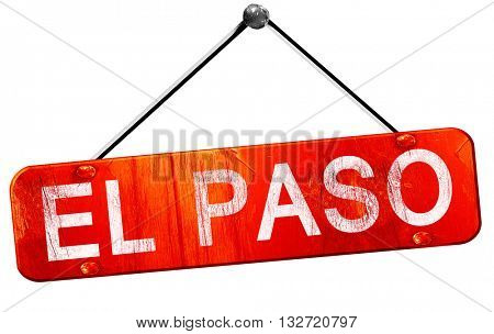 el paso, 3D rendering, a red hanging sign