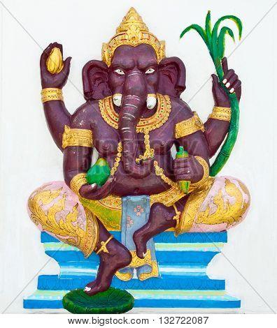 Indian or Hindu God Named Bala Ganapati at Wat Saman Chachoengsao Thailand