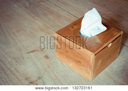 Tissue Box On The Table