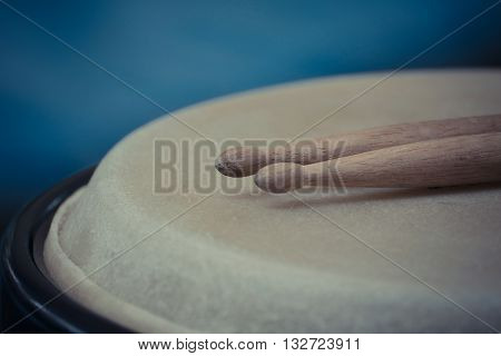 Drum Leather And Drum Stick
