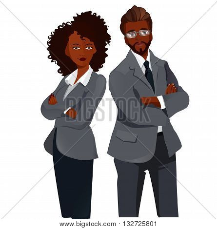 Businesspeople Team Standing Folded Hands