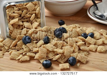 Rice Cereal With Blueberries