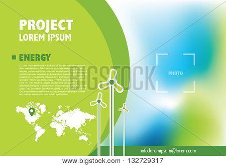 Flyer for publishing, presentation, advertising, Design graphic elements