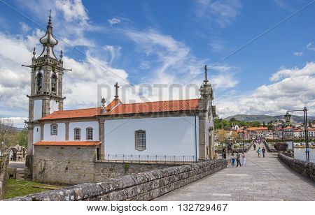PONTE DE LIMA, PORTUGAL - APRIL 24, 2016: Santo Antonio da Torre Velha church in Ponte de Lima, Portugal