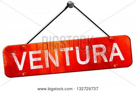 ventura, 3D rendering, a red hanging sign