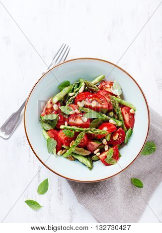 Asparagus and Cherry Tomato Salad with Pine Nuts and fresh Herbs