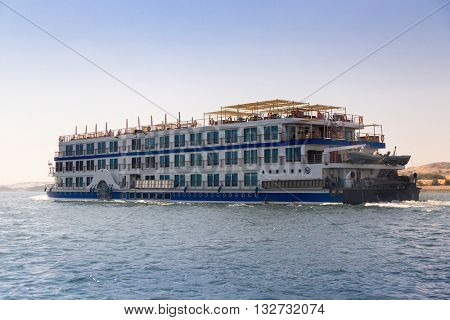 Cruiser ship on the Nile, Egypt.