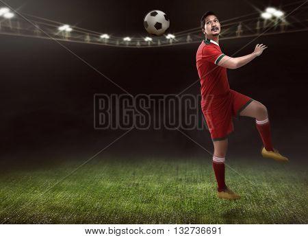 Soccer Player Header Ball