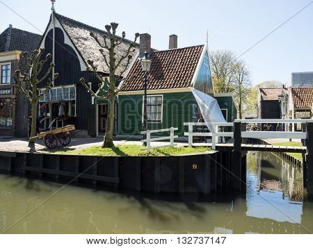 the Harbour of enkhuizen in the netherlands