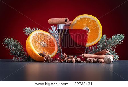 Mulled Wine With Spices