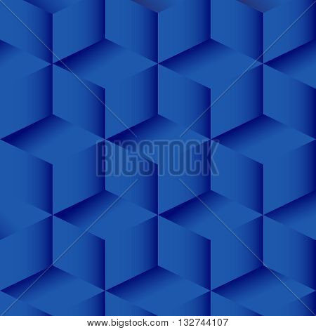 Vector background with cubes. Minimalist isometric view. Abstract geometric background blue