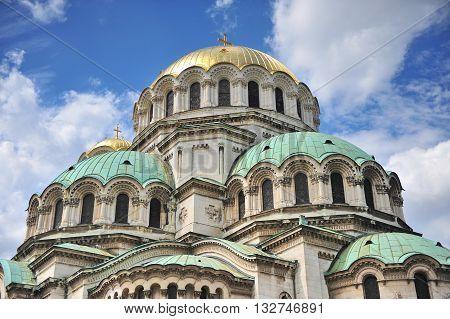 Domes of Alexander Nevsky Cathedral, Sofia, Bulgaria