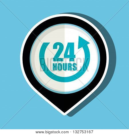 24 hour service design, vector illustration eps10 graphic