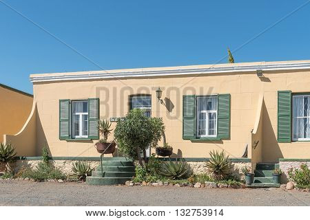 CRADOCK SOUTH AFRICA - FEBRUARY 16 2016: Historic old duet house from the victorian era in Cradock a medium sized town in the Eastern Cape Province