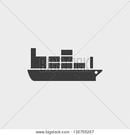 large steamer icon in a flat design in black color. Vector illustration eps10