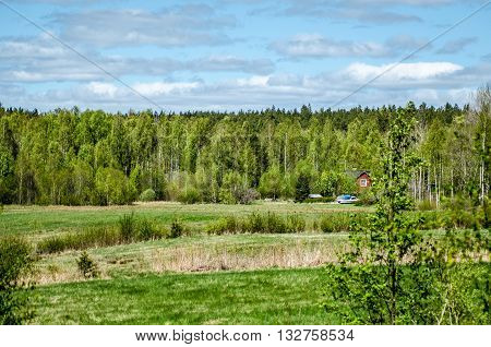 A hidden country house in the Swedish forestial nature.