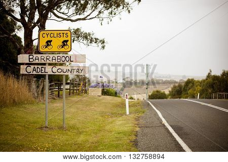 MELBOURNE, AUSTRALIA - FEBRUARY 1: Cadel Evans support at the inaugral Cadel Evans Great Ocean Road Race