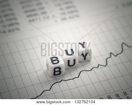 Text Buy From Letters Cube On Chart Report