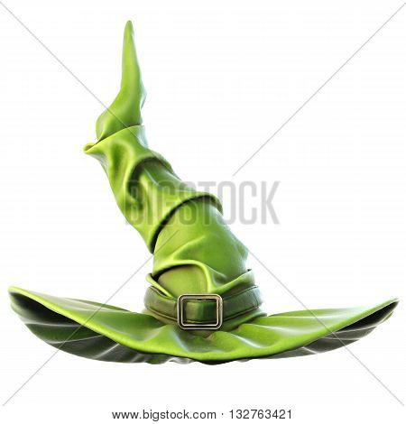 witch hat isolated on white background. 3D illustration.