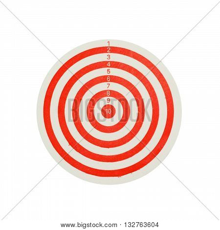 Dartboard isolated on a white color background